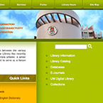 Webpage design for University of Macau Library